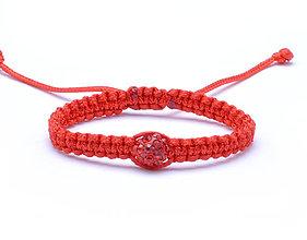 Náramky - pre bábätko shamballa červený kabbalah náramok - 11290245_