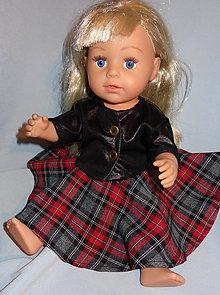 Hračky - káro + koženka pre baby born sister 43 cm - 11292786_