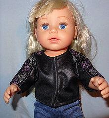 Hračky - koženkový kabátik pre baby born sister 43 cm - 11292896_