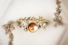 Prstene - Zlatý prsteň - Bokeh Gold Mini - 11292185_