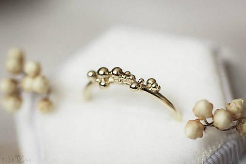 Prstene - Zlatý prsteň - Bokeh Gold Mini - 11292183_
