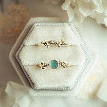 Prstene - Zlatý prsteň - Bokeh Gold Mini - 11292215_