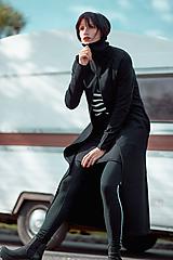 Mikiny - FNDLK dlouhá mikina na zip 446 RRzS s límcem - 11290744_