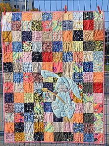 Úžitkový textil - Veselý zajačik - detská deka - 11290647_