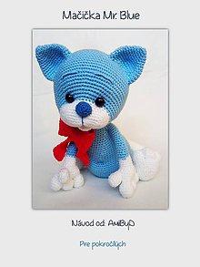 """Návody a literatúra - Návod """"Mačička Mr Blue"""" - 11292221_"""
