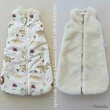 Textil - Spací vak pre deti a bábätká ZIMNÝ 100% MERINO S/M /L /XL /XXL /XXXL - 11292402_