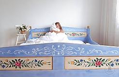 Nábytok - Ručne maľovaná posteľ (rôzne veľkosti) - 11291325_