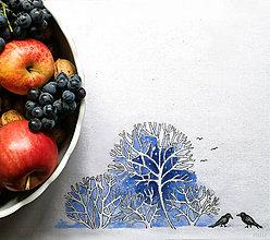 """Úžitkový textil - Maľované prestieranie (štóla) """"zima"""" - 11290418_"""