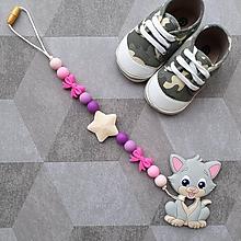 """Hračky - Hryzátko do kočíka alebo autosedačky """"Mačička"""" - 11292981_"""