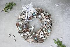 Dekorácie - Vianočný veniec na dvere - 11290251_