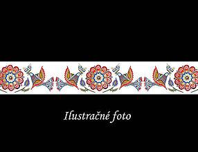 Iné tašky - Folk popruh na kabelku z autorskej dizajnovej látky  (Vzor č. 18 - Vajnory biele) - 11293113_