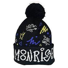 Detské čiapky - Zimná pletená čiapka Moonrise street crew black - 11292364_