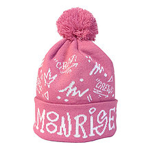 Detské čiapky - Zimná pletená čiapka Moonrise street crew pink - 11292366_