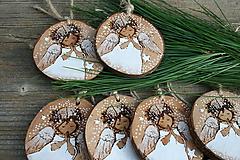 """Dekorácie - vianočná drevená dekorácia """"anjelik"""" - 11291132_"""