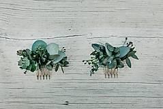 Ozdoby do vlasov - Minihrebienok Eukalyptus - 11292955_