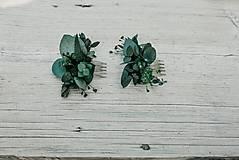 Ozdoby do vlasov - Minihrebienok Eukalyptus - 11292957_