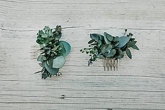 Ozdoby do vlasov - Minihrebienok Eukalyptus - 11292956_