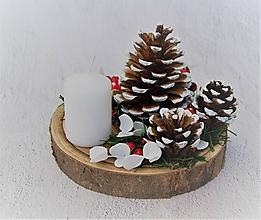 Dekorácie - Svietnik 40 vianočný - 11290789_