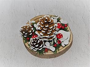 Dekorácie - Svietnik 40 vianočný - 11290792_