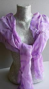 """Šatky - Dámsky šifónový pléd/štóla- """"Sweet violet"""" - 11289748_"""