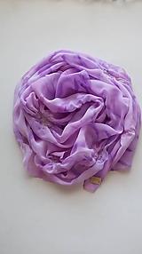 """Šatky - Dámsky šifónový pléd/štóla- """"Sweet violet"""" - 11289755_"""