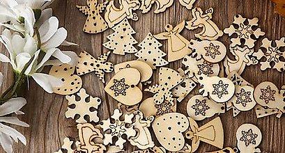 Polotovary - Výrez vianočný 3 cm - 11291948_