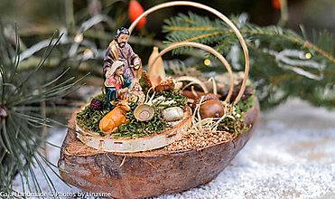 Dekorácie - Betlehem v kokosovom plode - 11292195_