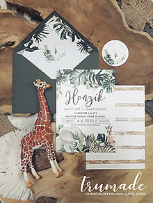 Papiernictvo - Safari pozvánka k narodeninam - 11291113_