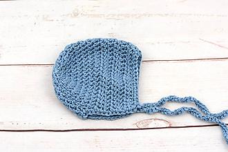 Detské čiapky - Modrý zimný čepiec EXTRA FINE - 11290796_