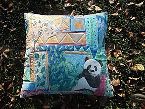 Úžitkový textil - vankúš s pandou - 11290377_