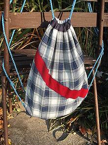 Batohy - károvaný ruksak - 11290397_