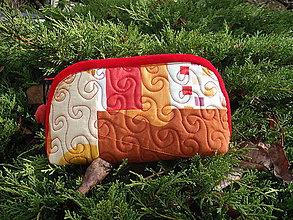 Taštičky - taštička hnedo-oranžová - 11290538_