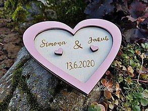 Darčeky pre svadobčanov - Tanierik na obrúčky - 11291557_