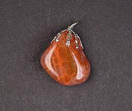 Iné šperky - Achát ohnivý p106 - 11289783_