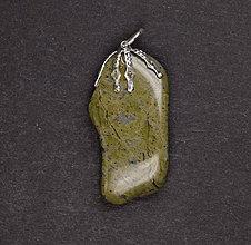 Iné šperky - Jaspis zelený p164 - 11289960_