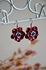 Náušnice - Rozkvitnuté ruže, náušnice, fimo - 11289952_