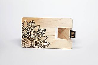 Drobnosti - DREVENÉ USB_MANDALA - 11289924_
