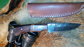 Nože - Damaskový lovecký nôž - 11291942_