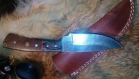 Nože - Damaskový lovecký nôž - 11291968_