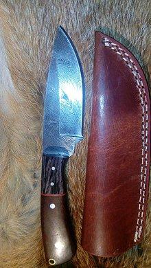 Nože - Damaskový lovecký nôž - 11291965_