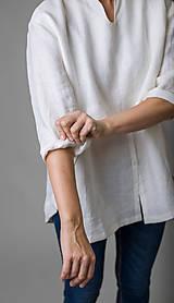 Košele - Ľanová košeľa Roma - 11292856_