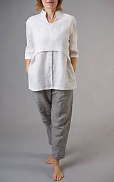 Košele - Ľanová košeľa Roma - 11292871_