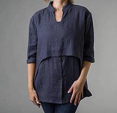 Košele - Ľanová košeľa Roma - 11293098_