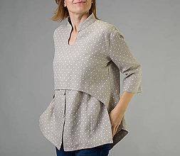 Košele - Ľanová košeľa Roma - 11293124_
