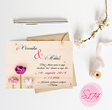 Papiernictvo - svadobné oznámenie S174 - 11289999_