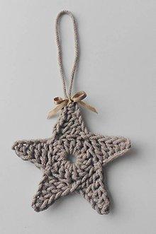 Dekorácie - Závesné dekorácie/háčkované vianočné hviezdičky 3 (Závesné dekorácie/háčkované vianočné hviezdičky 3 - perlová (šedá)) - 11292928_