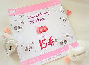 Darčekové poukážky - -Darčekový poukaz/Novorodeniatko- - 11290351_