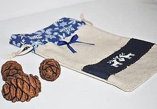 Úžitkový textil - Mikulášske/vianočné vrecúško sob - 11290821_