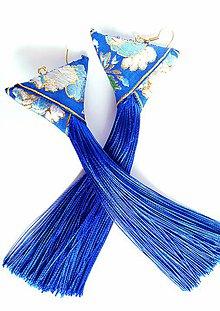 Náušnice - Vznešená modrá - 11291621_