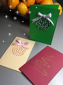 """Nezaradené - Vianočná pohľadnica """"perlička"""" - 11293206_"""